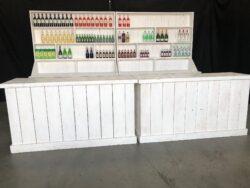 Witte Bar opstelling achterwand met uitgifte balie Alphen aan den Rijn